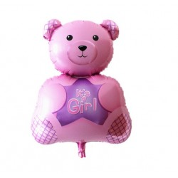 Balon folie metalizata Botez Fetita, Ursulet It's a Girl, 49x37cm