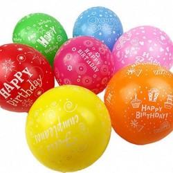 Set 10 Baloane Latex, 26 cm, Multicolore, Inscriptionate cu Happy...