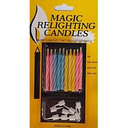 Set 10 Lumanari Magice ce se Reaprind