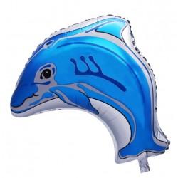 Balon Folie Delfin albastru, 58x50 cm