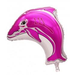 Balon Folie Delfin roz, 58x50 cm