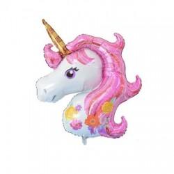 Balon Folie Figurina Unicorn, 110x85 cm