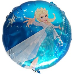Balon folie metalizata Elsa Frozen, 45 cm, Happy Birthday