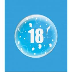 Balon DECO B-LOON, 61 cm, Transparent si inscriptinat cu cifra18...