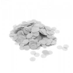 Confetti hartie, forma rotunda alba 1,8 cm, 15 g, Rocca Fun Factory