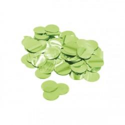 Confetti rotunde culoare metalica verde lime 2,3 cm, 15 g, Rocca Fun...