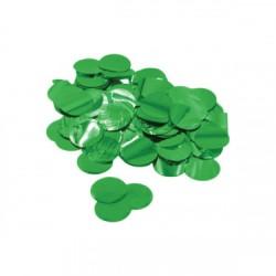 Confetii rotund Verde metalizat, 2,3 cm, 15 g, Rocca Fun Factory