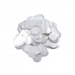 Confetti rotunde Metalice Albe Perlat 2,3 cm, 15 g, Rocca Fun Factory