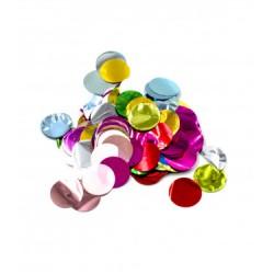 Confetti rotunde metalice asortate 2,3 cm, 15 g, Rocca Fun Factory