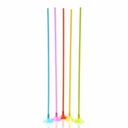 Bete si rozete multicolore din plastic pentru baloane - 40 cm