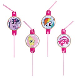 Paie de baut flexibile My Little Pony Rainbow, 8 buc./set, Amscan 998470