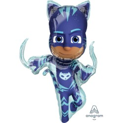 Balon Folie Figurină PJ Masks Catboy, 53 x 93 cm, Pisoi din Eroi în...