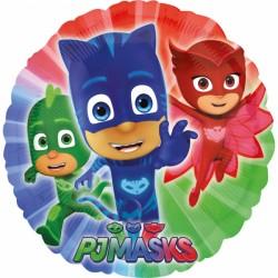 Balon Folie Rotund PJ Masks, 43 cm, Eroi în Pijamale, Amscan 3467201