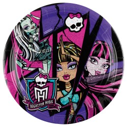 8 Farfurii 23 cm Monster High 2, Amscan 552511
