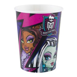 8 Pahare de 250 ml, Monster High 2, Amscan 552513