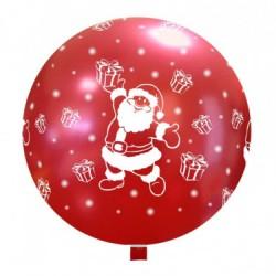 Balon Latex JUMBO 80 cm, Rosu 63, inscripționat cu Mos Craciun...