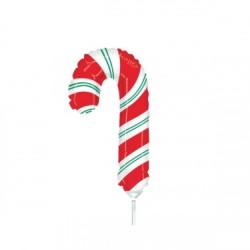 Balon folie mini figurina Candy, Bomboană de Crăciun- 23 cm.