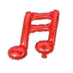 Balon Folie Mini Figurină Notă Muzicala Dubla Roșie,        Rocca Fun...