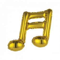 Balon Folie Figurină Notă Muzicala Dubla Aurie, Rocca Fun Factory