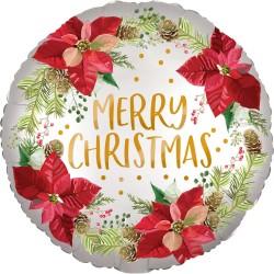 Balon Folie 45 cm Satin - Merry Christmas, Amscan 4009701