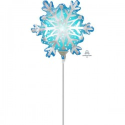 Balon Folie Mini Figurina Fulg de Nea, 23 cm, Amscan 3846802