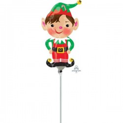 "Balon Folie Mini Figurina Elf ""Jolly Christmas Elf"", 23 cm, Amscan,..."