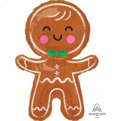 "Balon Folie Figurina Turta Dulce, 55 x 78 cm, Amscan ""Happy Gingerbread..."