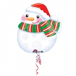 "Balon Folie Figurina Om de Zapada, 45 cm, Amscan ""Bundled Up Snowman""..."