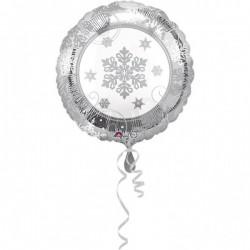 "Balon Folie Rotund Fulg de Nea, 43 cm, Amscan ""Sparkling Snowflake""..."