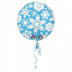 "Balon folie Rotund Fulgi de Zapada, 43 cm, Amscan ""Frosty Snowflakes""..."
