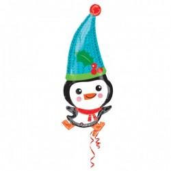 """Balon Folie Figurina Pinguin Adorabil, 33 x 83 cm, Amscan """"Adorable..."""