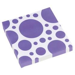 20 Șervețele 33 X 33 cm cu buline mov, Purple Dots, Amscan 999327
