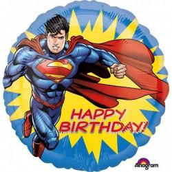 Balon Folie 43 cm Superman Happy Birthday, Superman HBD Amscan...