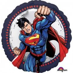 Balon Folie 43 cm rotund Superman, Amscan 3553201