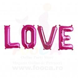 """SET """"LOVE"""" din 4 Baloane Folie FooCA Litere de 35 cm, Diverse Culori!!!"""