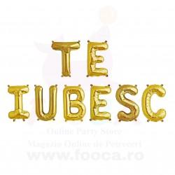 """SET """"TE IUBESC"""" din 8 Baloane Folie FooCA 35 cm, Diverse Culori!!!"""