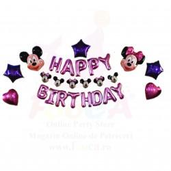 SET 26 Baloane folie de perete Minnie și Mickey Mouse