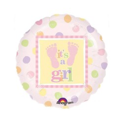 Balon folie pentru Botez Fetita, It's a Girl cu talpi, 45cm