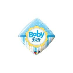 Balon patrat folie Baby Boy, Botez Baietel,  45cm