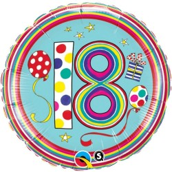 Balon folie majorat inscriptionat cu cifra18