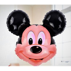 Balon figurina folie cap Mickey Mouse, 50 x 50 cm