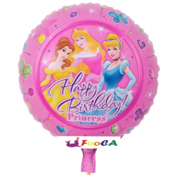 Balon Folie Happy Birthday Princess, 45 cm