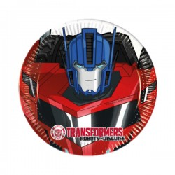 8 Farfurii PARTY 20cm TRANSFORMERS RID, Rocca Fun Factory