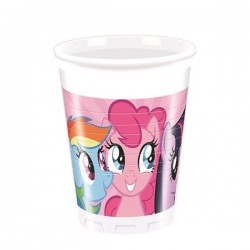 Set pahare plastic My Little Pony, 8 buc/set, 200ml, Rocca Fun Factory