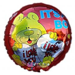 Balon Folie It's a Boy - I love You, Teddy Bear, 45cm