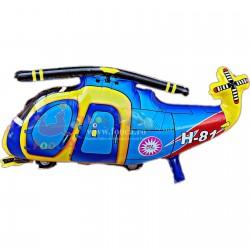 Balon figurina folie mare, Elicopter de lupta, 47x75 cm