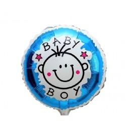 Balon folie Baby Boy Smile, Botez Baietel, 45cm