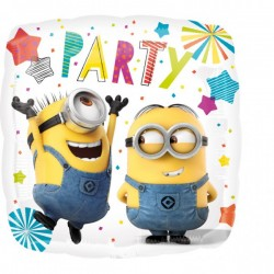 Balon patrat folie 43cm, Despicable Me Minions Party, Amscan 3615901