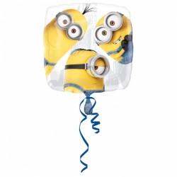 Balon patrat folie 43cm, Petrecere Minioni, Amscan 3265601