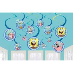 12 Serpentine decorative Sponge Bob, Amscan 672627